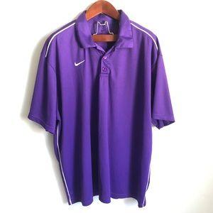 Nike Dri Fit 3XL Purple Golf Collared Light Polo